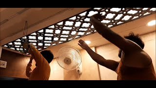 MDF जाली False Ceiling में कैसे लगाये ? | MDF Jali Fitting in False Ceiling 2019