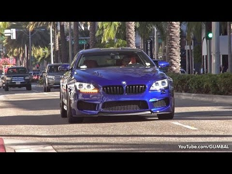 One day in Beverly Hills, Rodeo Drive: M6 F13, Aventador, MC Stradale, Diablo, Mansory GTC