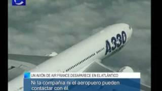 Desaparece un avión de Air France sobre el Atlántico con 228 personas a bordo