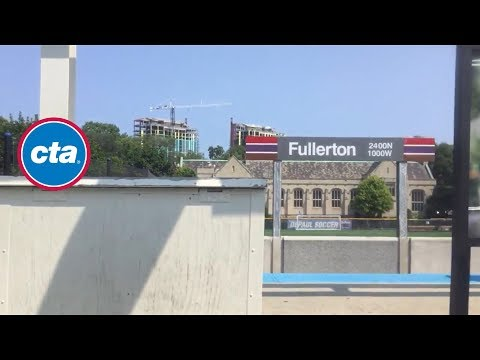 CTA Red Line ride from Grand/State to Fullerton