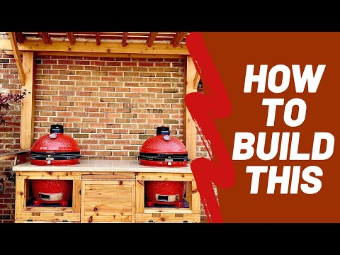 DIY Concrete & Wood BBQ Table - Kamado Joe Or Big Green Egg | Smoking Dad BBQ