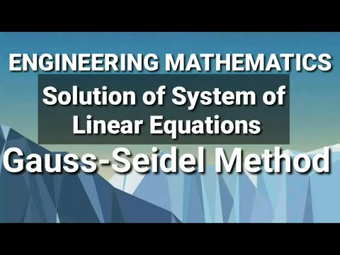 MATLAB - Methode de Jacobi + Methode de Gauss-Seidel from YouTube · Duration:  6 minutes 57 seconds