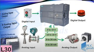 Siemens TIA portal: how to use Analog input/output signals modules?