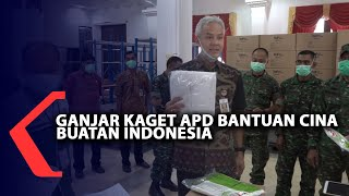 Ganjar Kaget APD Bantuan Cina Buatan Indonesia