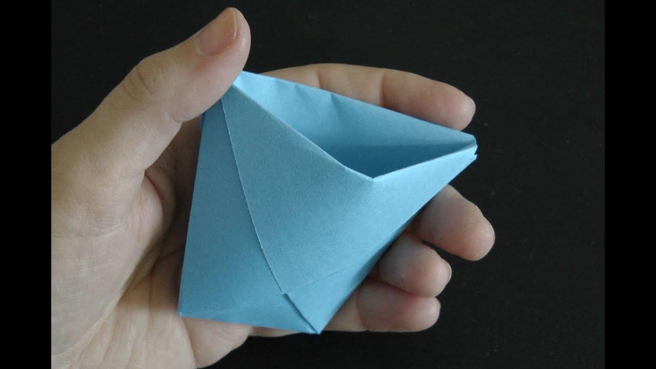 Wie man einen Origami Papierbecher bastelt mit Schritt-für-Schritt ... | 720x1280