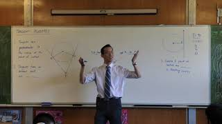 Tangent Properties - Circle Geometry (Tangents from an external point are equal)