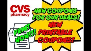 CVS UPDATED DEALS W/ NEW PRINTABLE COUPONS!