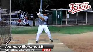 ANTHONY MORENO PROSPECT VIDEO, 3B, SAN GABRIEL VALLEY ARSENAL CLASS OF 2014