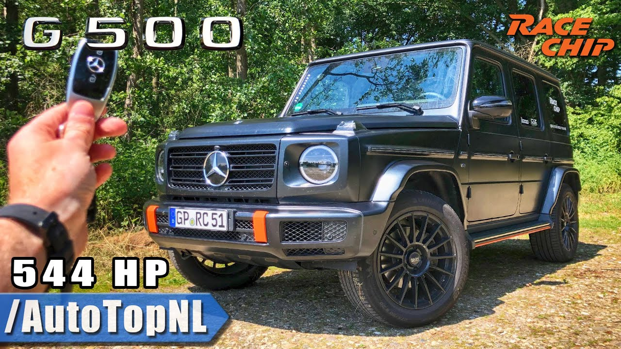 Mercedes Benz G Class G500 RaceChip 544HP REVIEW POV Test Drive on AUTOBAHN & ROAD by AutoTopNL