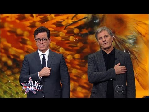Stephen Colbert and Viggo Mortensen: Save The Bees