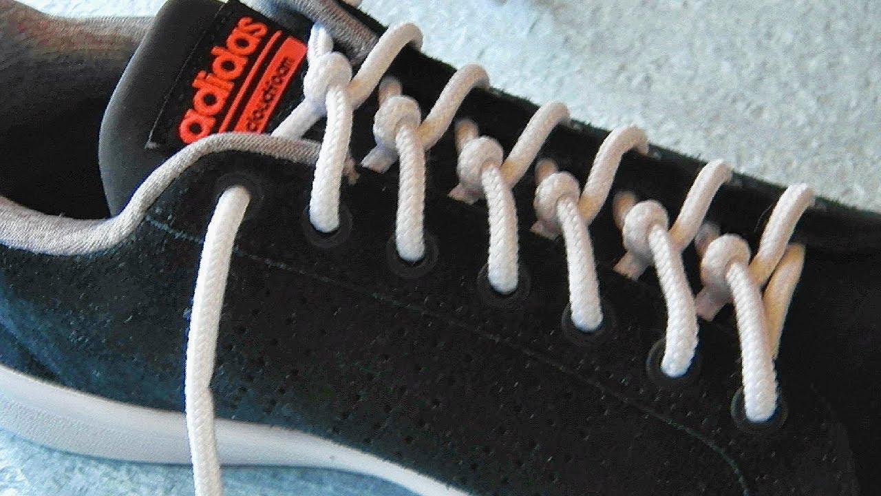〔靴紐の結び方〕ひねった結び目がオシャレな靴ひもの通し方 ツイスト結び how to tie shoelaces 〔生活に役立つ!〕
