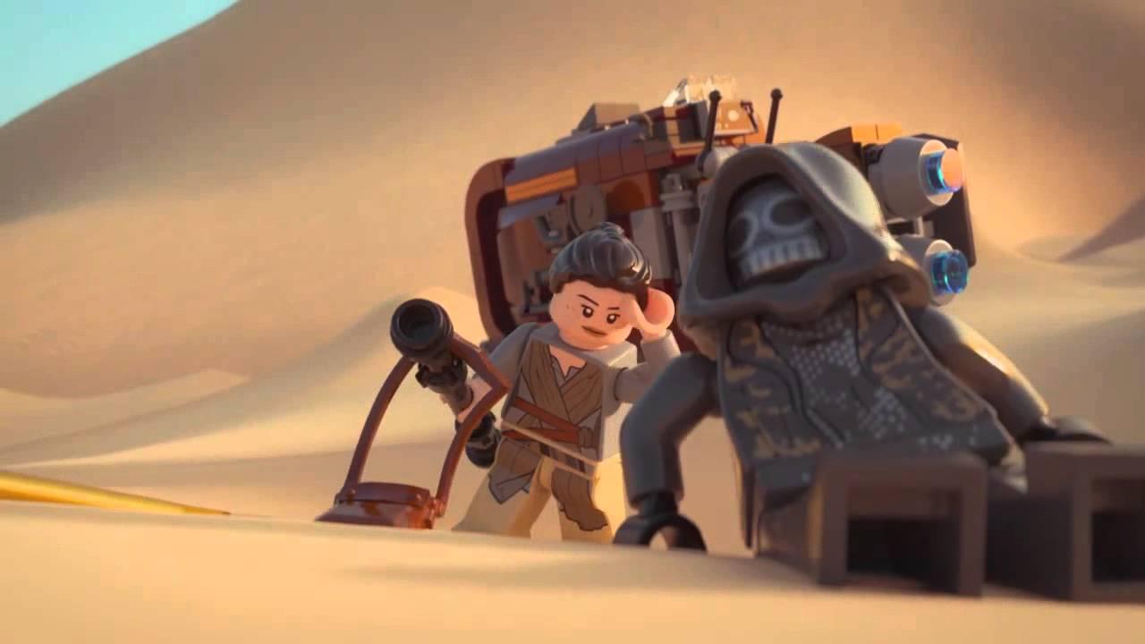 Reys Speeder Lego Star Wars 75099 Product Animation Youtube