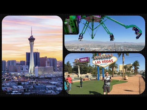 Las Vegas Vlog / Day 4 / Top Of The Stratosphere,Casinos & Vegas Sign