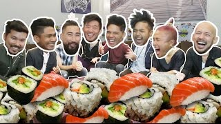 200 PIECES OF SUSHI IN 5 MIN! (ft. Quest Crew))