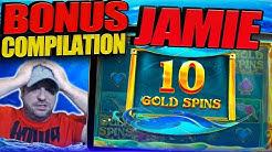 JAMIE SLOTS BONUS COMPILATION!! Pink Elephants 2, Dragon Tribe, Fairy Queen And More!!