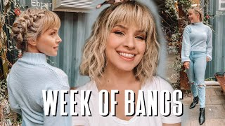 I Wore Bangs For a Week...Hairstyles for Bangs - Kayley Melissa