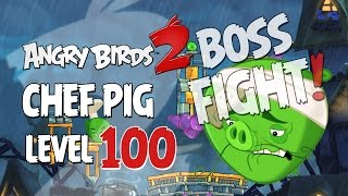 In level 100 of Angry Birds 2 you face Chef Pig in an epic BOSS FIG...