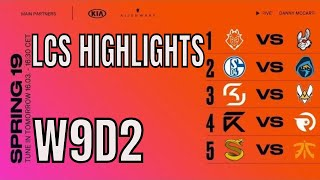 LEC Highlights ALL GAMES Week 9 Day 2 Spring 2019 League of Legends European Championship