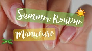 SUMMER ROUTINE MANUCURE 2017!♡