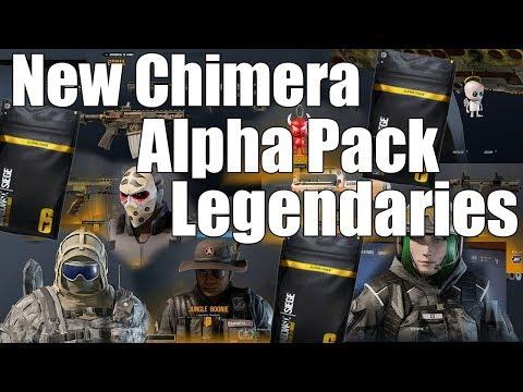 Rainbow Six Siege: New Chimera Alpha Pack Legendaries.