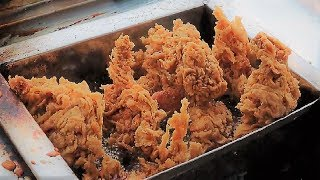 Crispy Spicy Chicken Fry & Burger From Street Food Vendor in Dhaka Part -1