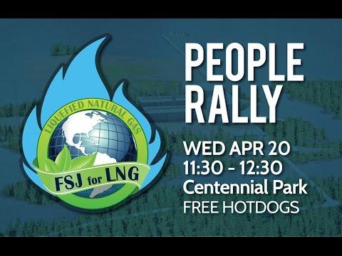 Fort St. John FSJ for LNG Foot Rally - LIVE