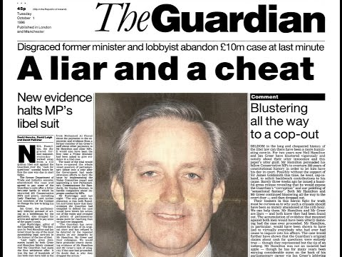 Cover-up at The Guardian 46: The Guardian's lies that Hamilton lied