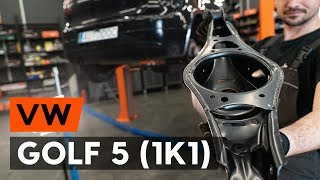 Hoe een achteraan draagarm vervangen op een VW GOLF 5 (1K1) [AUTODOC-TUTORIAL]