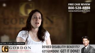 Social Security Disability Real Client - Shari Codital | Get Gordon McKernan Injury Attorneys