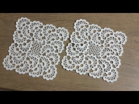 Tığişi Örgü Dantel Modeli Yapımı, Vitrin Takımı & Crochet
