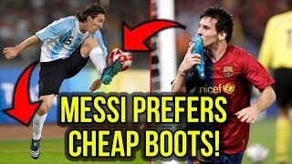 MESSI LIKES CHEAP FOOTBALL BOOTS BETTER!