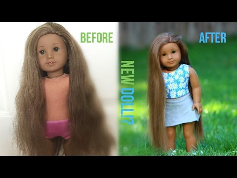 I GOT A FREE DOLL!? (+ FIXING HER UP)