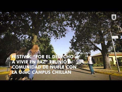 """#EscuelaVeranoUdeC: Festival """"Por el Derecho de Vivir en Paz"""""""