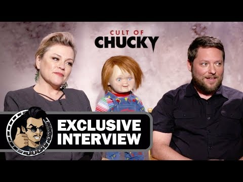 Christine Elise & Alex Vincent   CULT OF CHUCKY 2017 horror movie