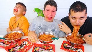 EXTREMELY SPICY NUCLEAR FIRE NOODLE CHALLENGE