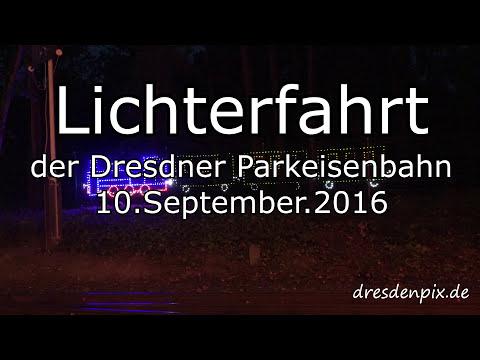 Lichterfahrt der Dresdner Parkeisenbahn