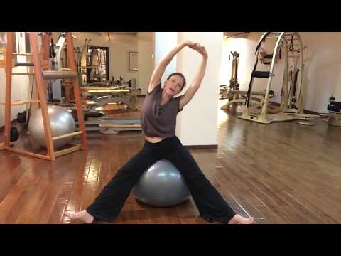 Stability Ball, whole body stretching routine