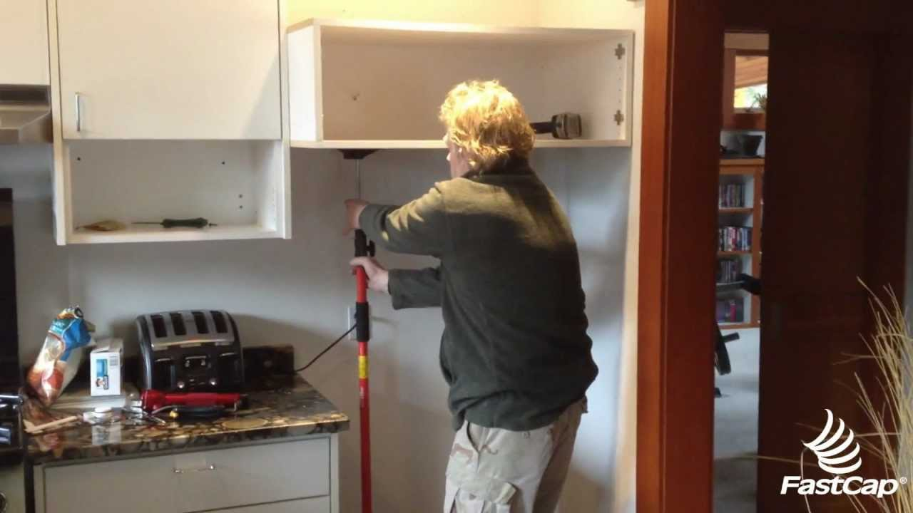 3rd Hand Installing Cabinet - YouTube