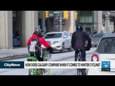 How does Calgary compare when it comes to winter cycling?