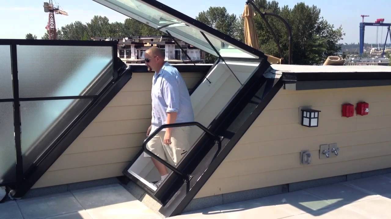 Roof Door Roof Access Youtube