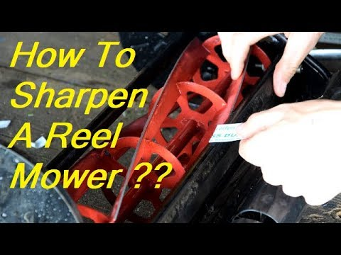 Sharpening A Reel Mower