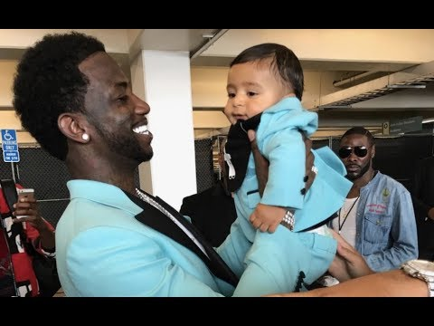 Gucci Mane Meets DJ Khaled Son Asahd At BET Awards