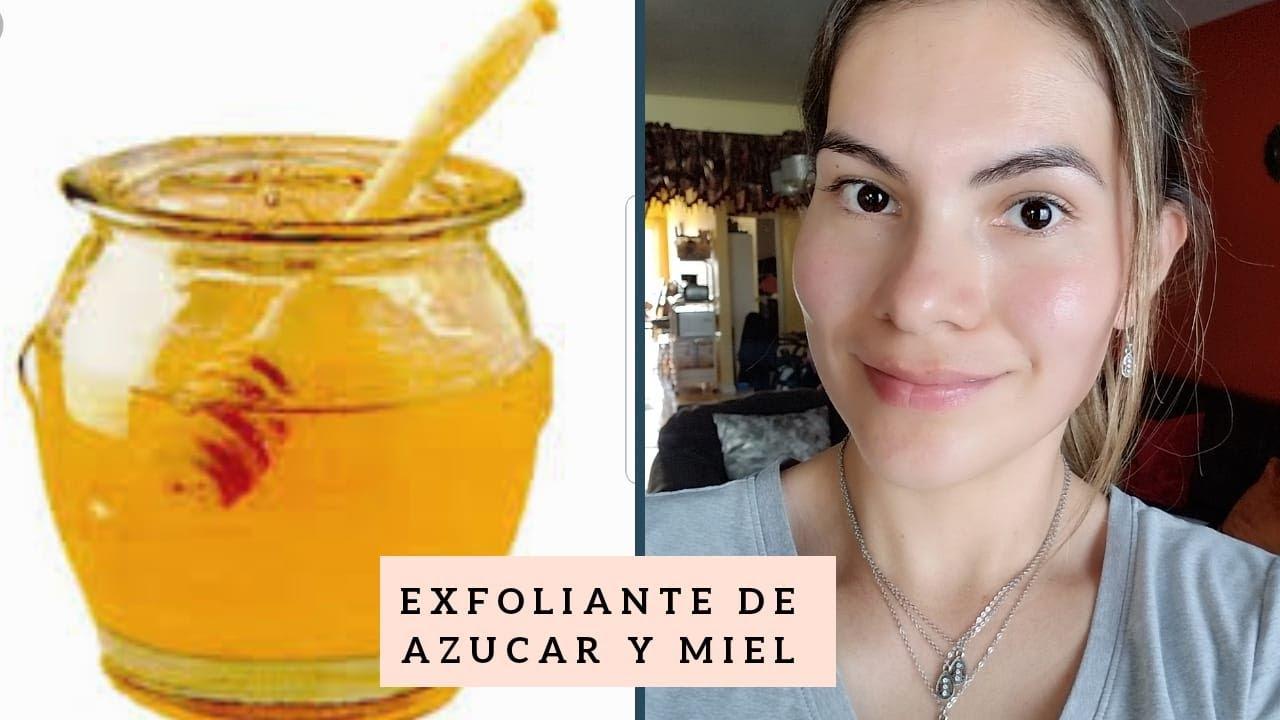 miel con azucar para exfoliar la cara
