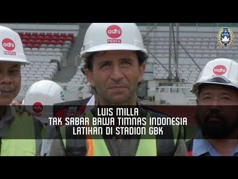 Luis Milla Tak Sabar Bawa Timnas Indonesia Latihan di Stadion GBK