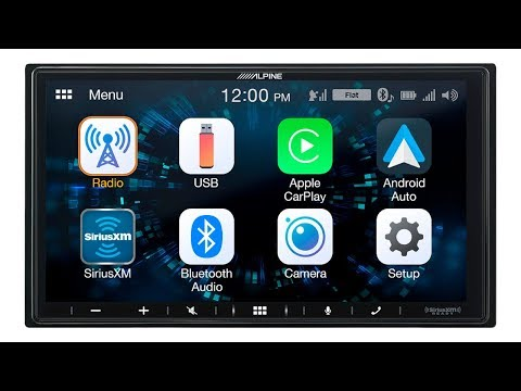 Alpine iLX-W650 7 Inch Media Receiver with CarPlay and Android Auto