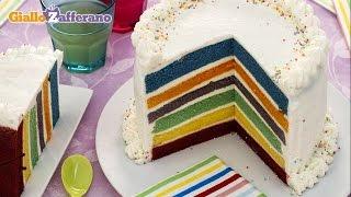 Rainbow cake - kid friendly recipe
