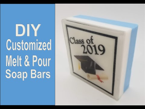 Customized soaps with paper embeds DIY tutorial!