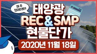 태양광 2020년 11월 18일 현물 REC SMP 단…