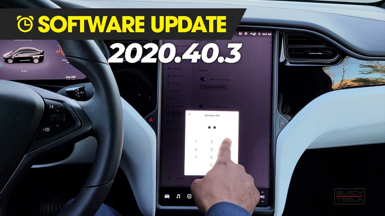 Tesla (2020.40.3) Bluetooth Priority, Glovebox PIN, Heated Charger Inlet!