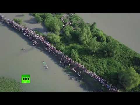 Off to Bangladesh: Thousands of Rohingya Muslims flee Myanmar